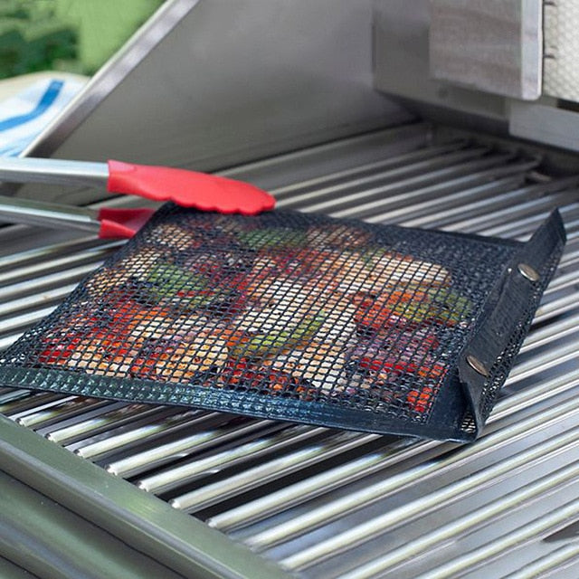 Reusable Non-Stick BBQ Mesh Grill Bags China / A
