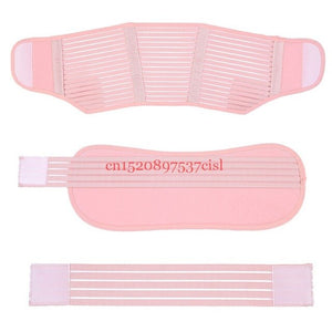 Women maternity back brace abdomen support belt Pink color / M