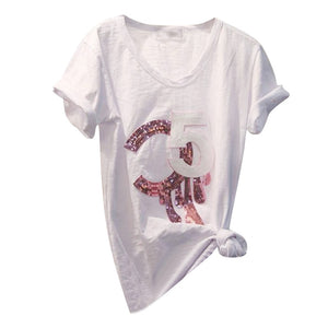 Sequined Women's T-shirt