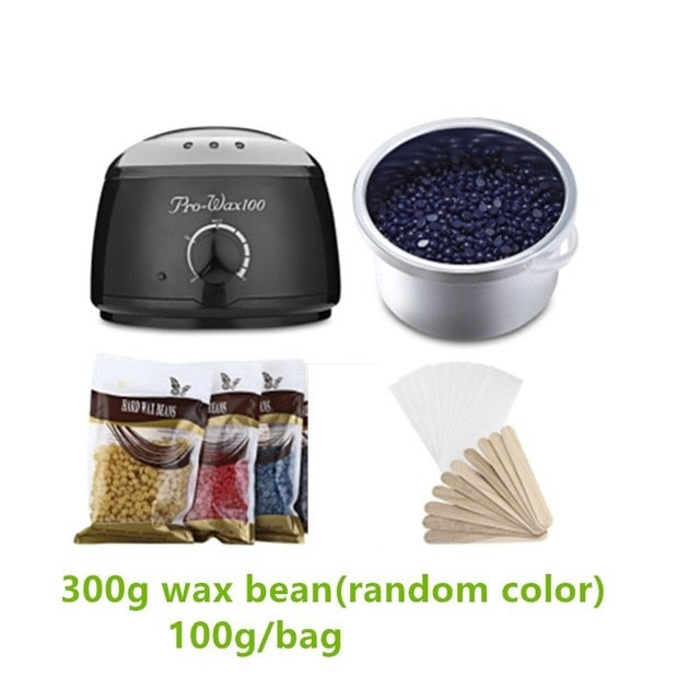 500ml Wax Warmer Pot Machine +300g Wax Beans black with 300g wax