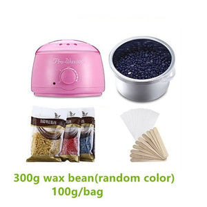 500ml Wax Warmer Pot Machine +300g Wax Beans pink with 300g wax