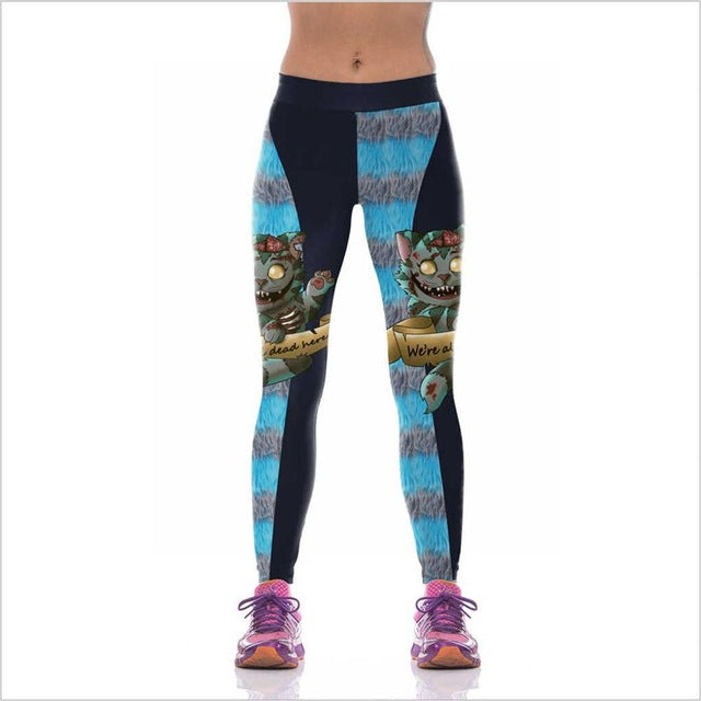 Womens Halloween Printed Leggings Print 3 / M