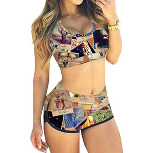 Women sexy bikini set with shorts women tankini / S