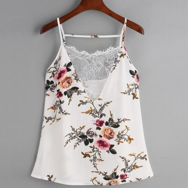 Chiffon lace casual summer top White / L / China