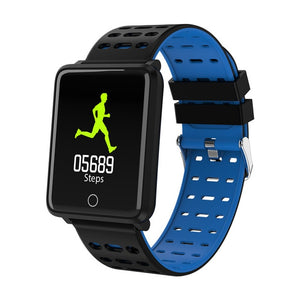 Waterproof smart sports watch blue