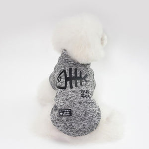 Thickening dog winter coat Gray / L