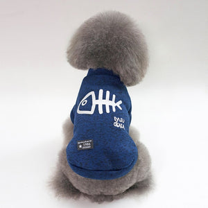 Thickening dog winter coat Blue / L