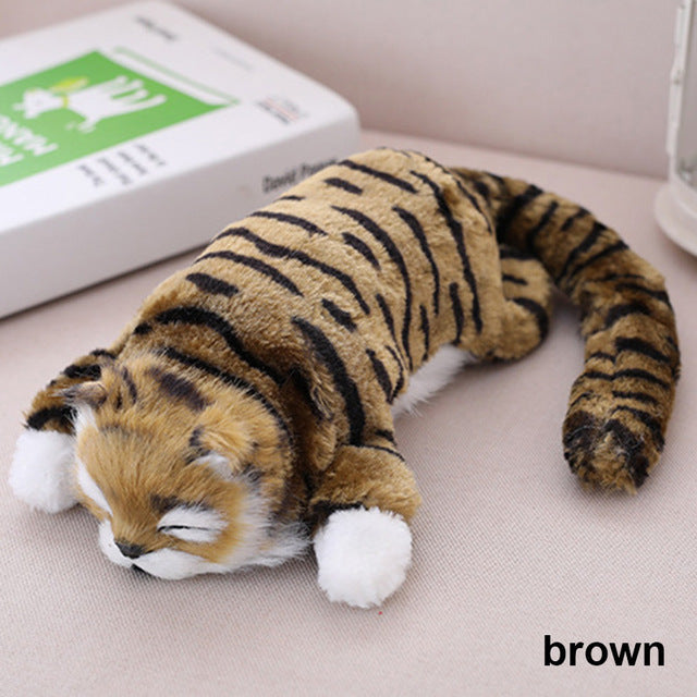 Funny Rolling Cat Brown