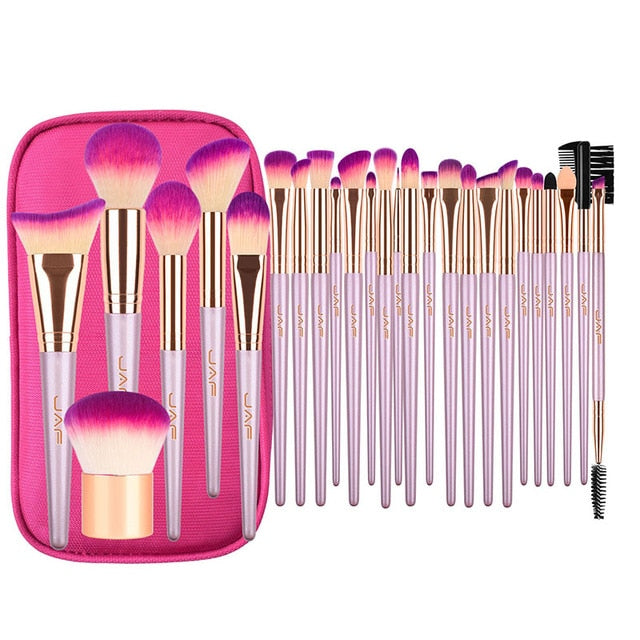 Professional travel cosmetic brush bag With Zipper Case