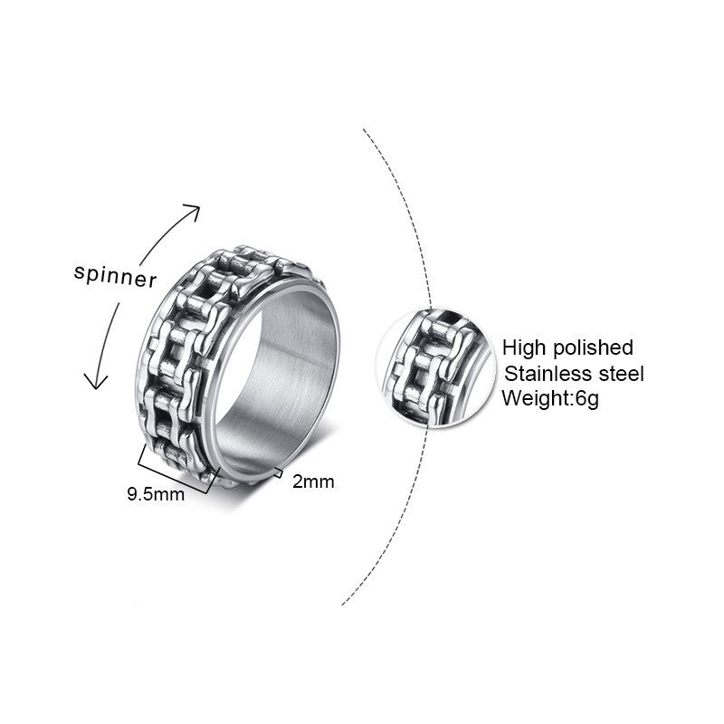 Men Spinner Ring