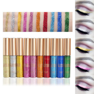 10 Color Glitter Liquid Eyeliner