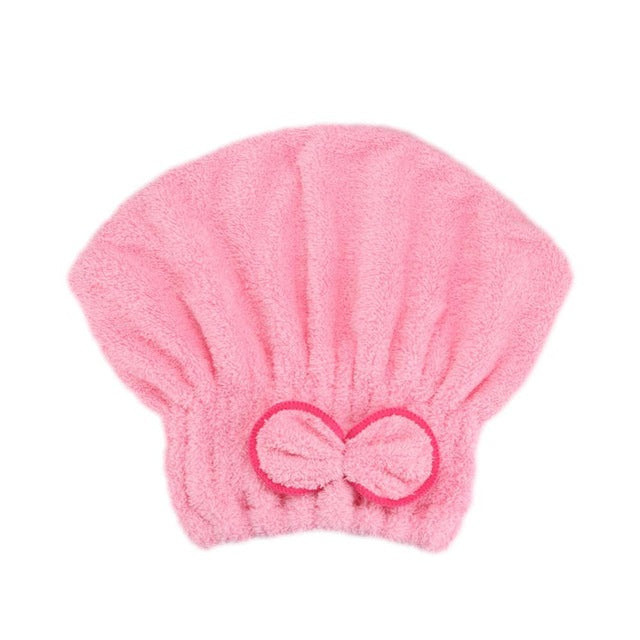 Microfibre Quick Hair Drying Wrap Towel Hat 02