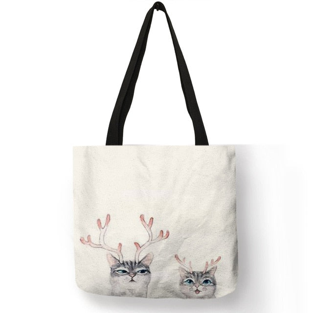 Watercolor Hand Painted Tote Bag 005
