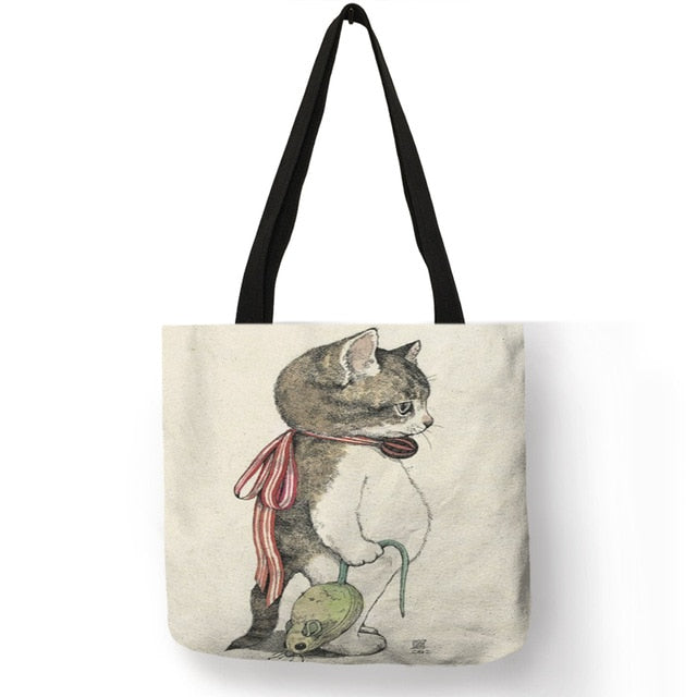 Watercolor Hand Painted Tote Bag 006