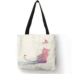 Watercolor Hand Painted Tote Bag 008