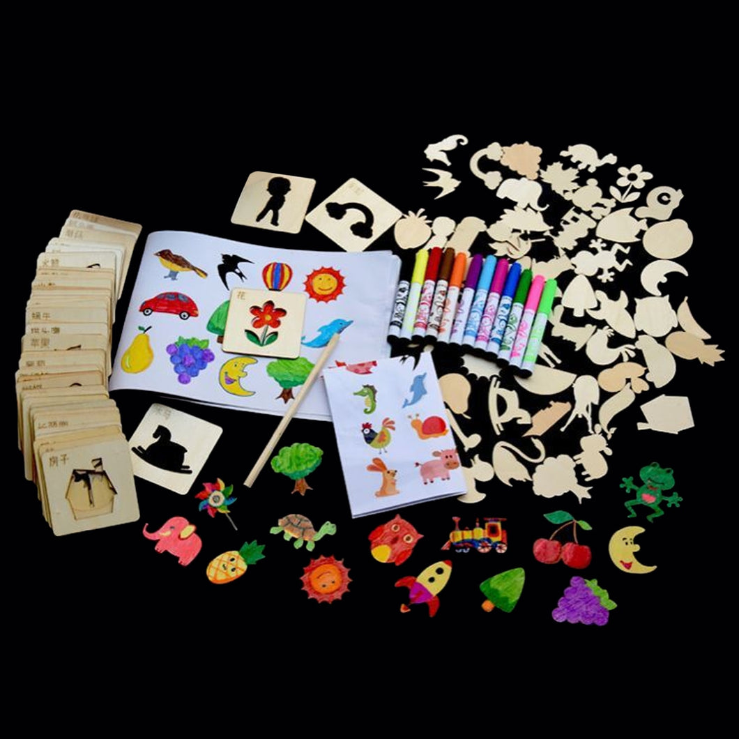 120 PCS Stencils Drawing Pencil Set