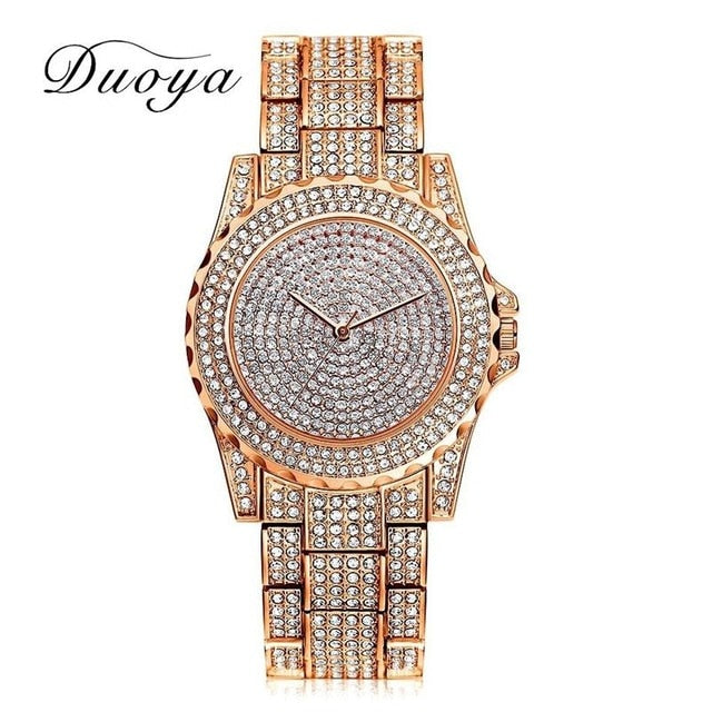 Crystal diamond bling watch Rose Gold
