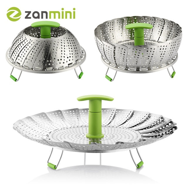 Collapsible Food Steamer Basket Default Title
