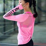 Long sleeve yoga top Pink / L