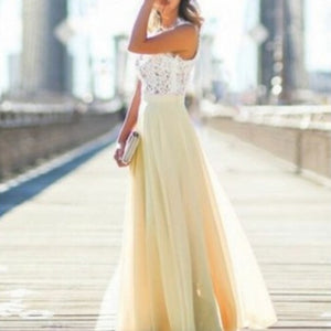 Hollow Out Evening Maxi Dress