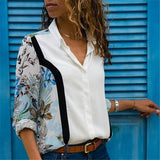 Women Blouses Fashion Long Sleeve Collar Shirt White 1 / S