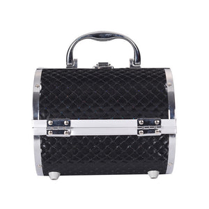 Pillow design Aluminium Makeup Case black