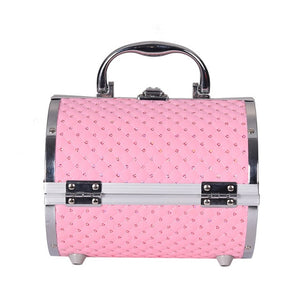 Pillow design Aluminium Makeup Case pink