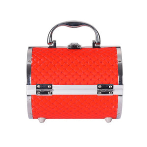 Pillow design Aluminium Makeup Case red