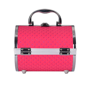 Pillow design Aluminium Makeup Case rose