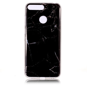 Huawei Honor 7A Pro Marble Case for Coque Huawei Y6 Prime