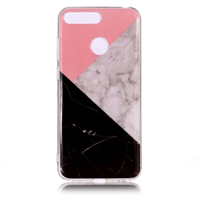 Huawei Honor 7A Pro Marble Case for Coque Huawei Y6 Prime Y6 Prime 2018 / 19