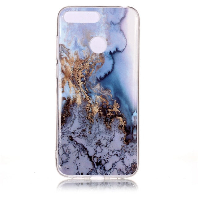 Huawei Honor 7A Pro Marble Case for Coque Huawei Y6 Prime Y6 2018 / 21