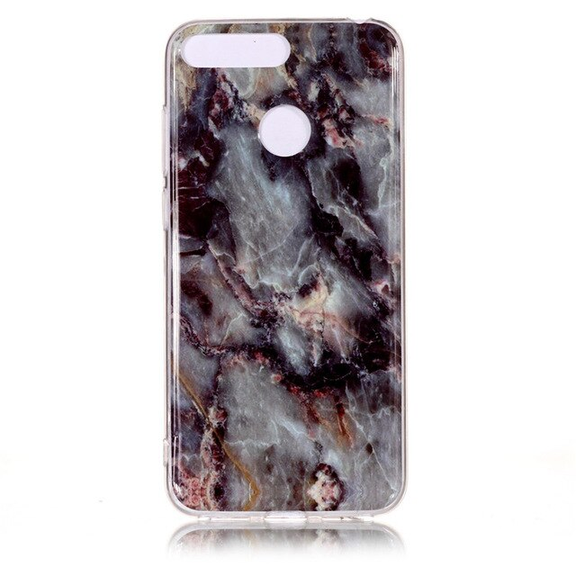 Huawei Honor 7A Pro Marble Case for Coque Huawei Y6 Prime Y6 2018 / 2