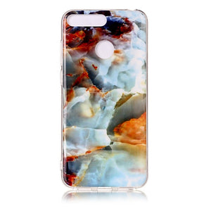Huawei Honor 7A Pro Marble Case for Coque Huawei Y6 Prime Y6 Prime 2018 / 3