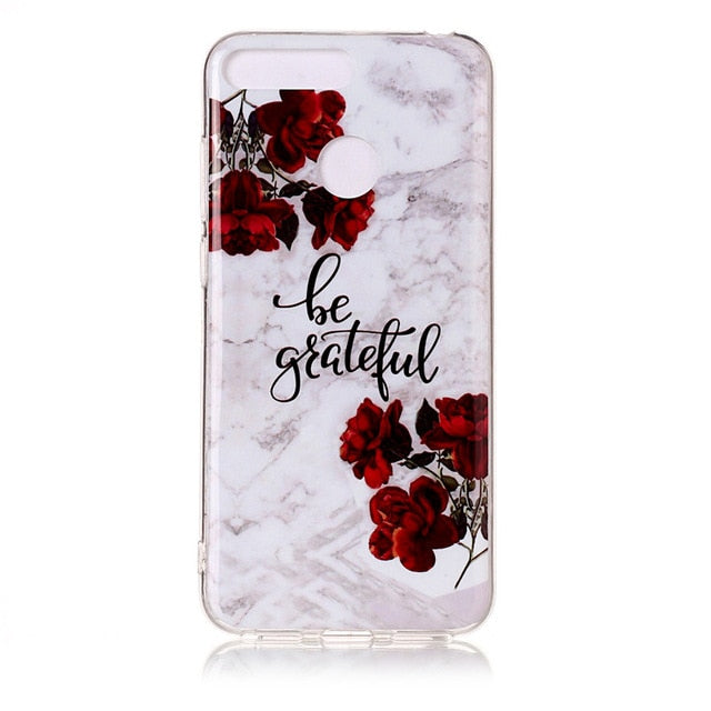 Huawei Honor 7A Pro Marble Case for Coque Huawei Y6 Prime Y6 2018 / 6