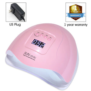 UV nails dryer LED lamp China / 54W Pink (US Plug)