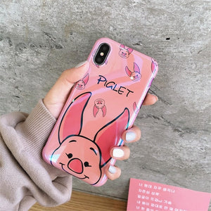Cute Pig Bear Cartoon Case For Samsung Galaxy S10 S9 S8 For S8 / Pig Case