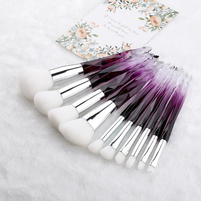 Diamond professional makeup brushes 6