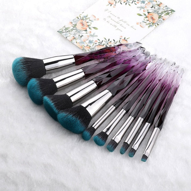 Diamond professional makeup brushes 7