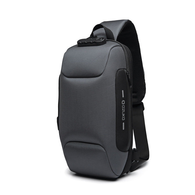 Anti-theft Backpack With 3-Digit Lock Gray / 17x8x34CM