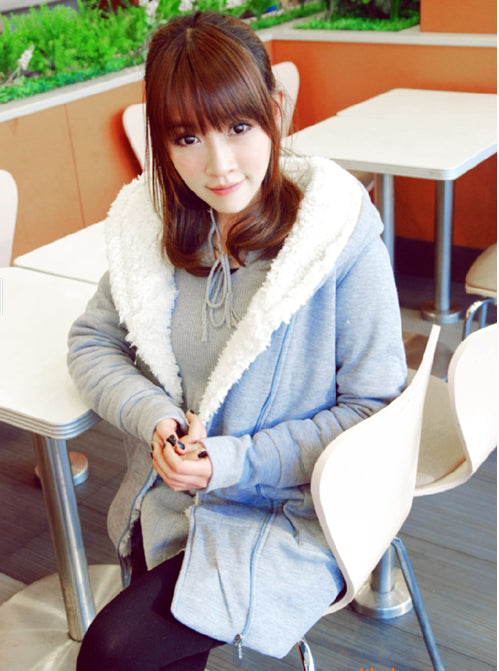 Padded winter wool jacket