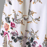 Womens off shoulder half sleeved casual loose floral blouse