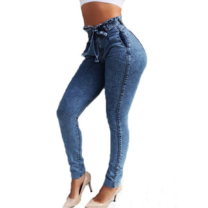 Slim stretch high waist bodycon jeans