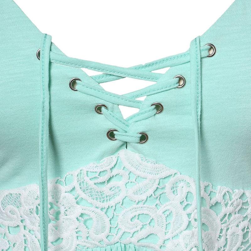 Lace Up Vintage Cami Top