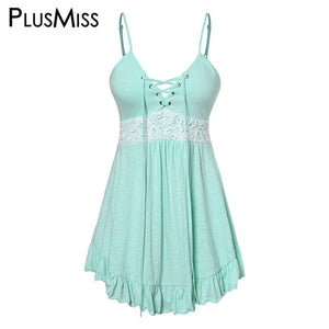 Lace Up Vintage Cami Top Mint / L