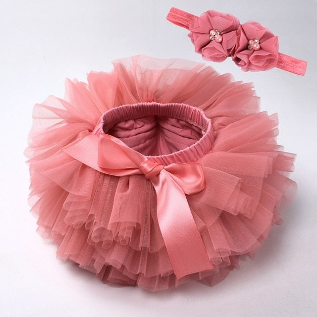 Baby girl lace bloomers diaper cover tutu watermelon / 18M