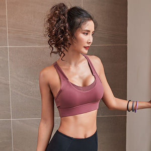 Push up wire free sports bra Fuchsia / S