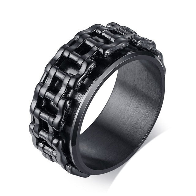 Men Spinner Ring 7 / black