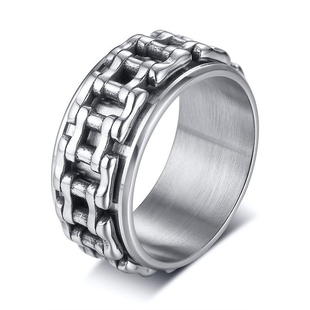 Men Spinner Ring 7 / silver