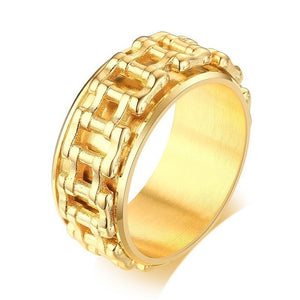 Men Spinner Ring 7 / gold